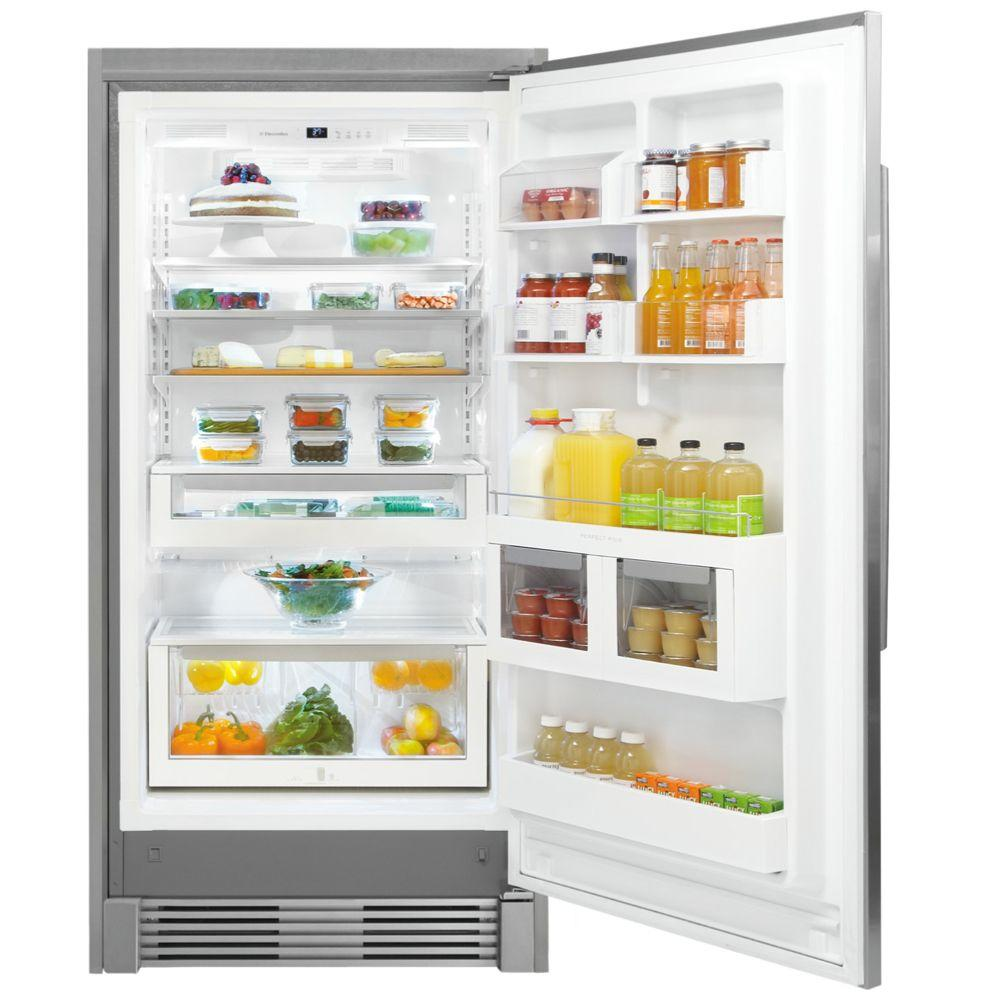 Electrolux Iq Touch 18 5 Cu Ft Freezerless Refrigerator In Stainless Steel Counter Depth