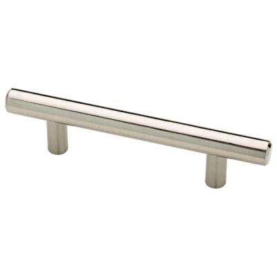 3 in. (76 mm) Satin Nickel Bar Drawer Pull (6-Pack)