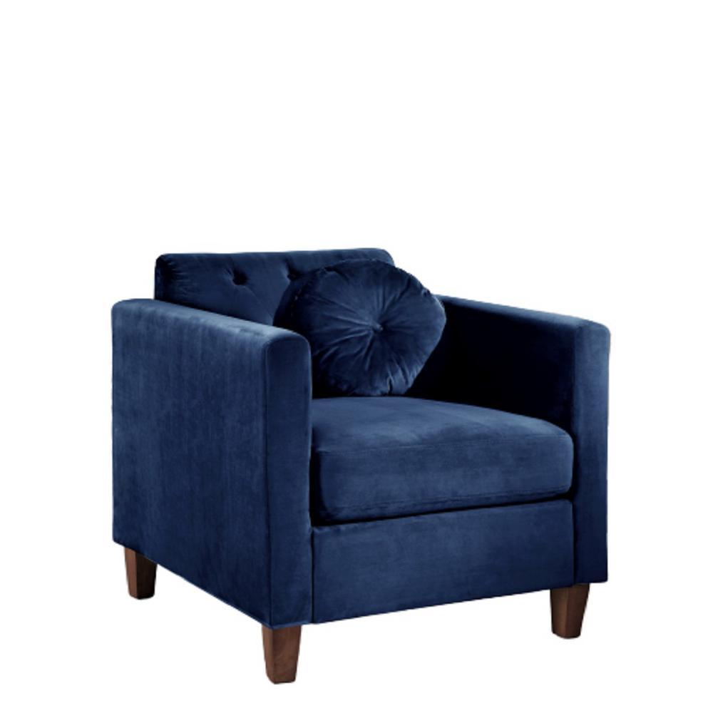 Lory velvet Kitts Classic Dark Blue Chesterfield Chair