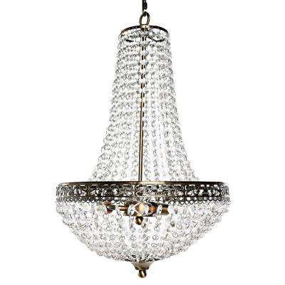 Poetic Wanderlust by Tracy Porter 3-Light Clear Chandelier with Crystal Cut Jewels