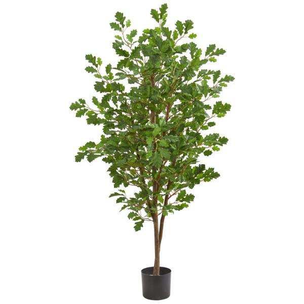 Nearly Natural Indoor 5 in. Oak Artificial Tree 9177