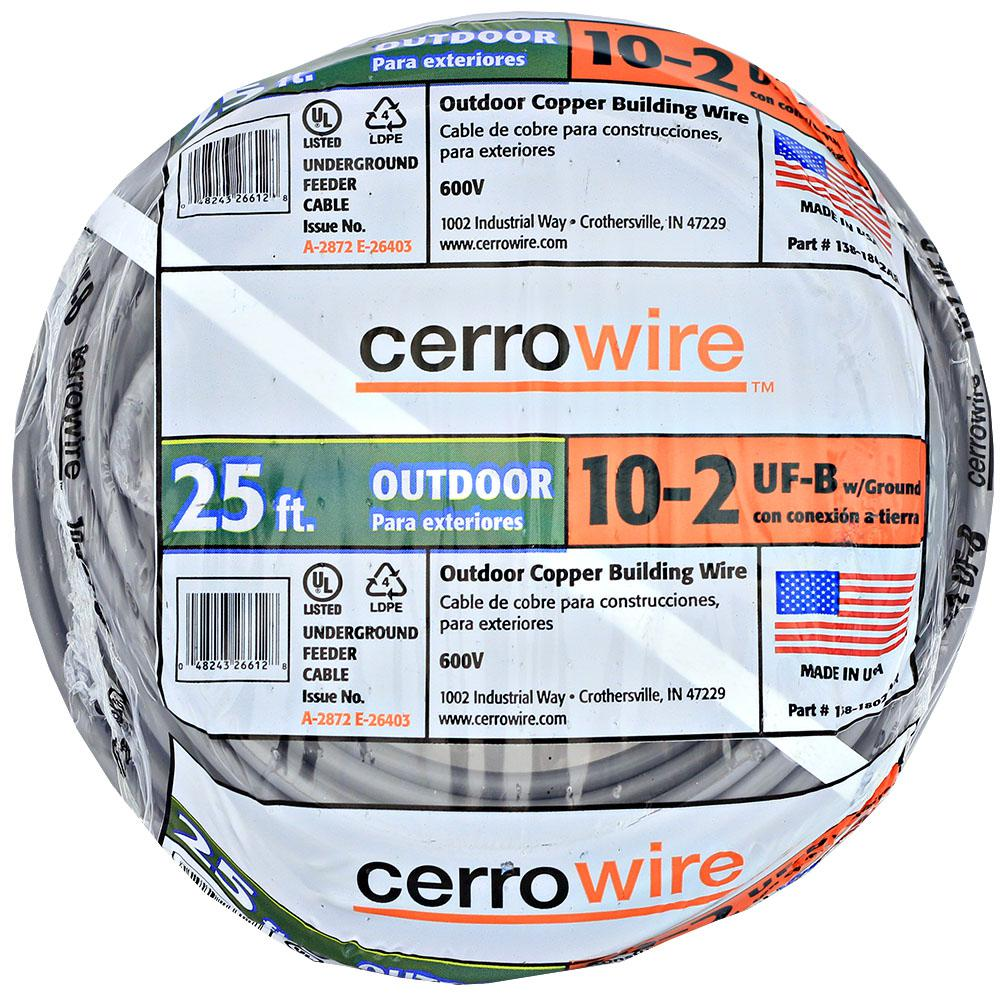 Cerrowire 25 ft. 10/2 UF-B Wire-138-1802AR-5 - The Home Depot