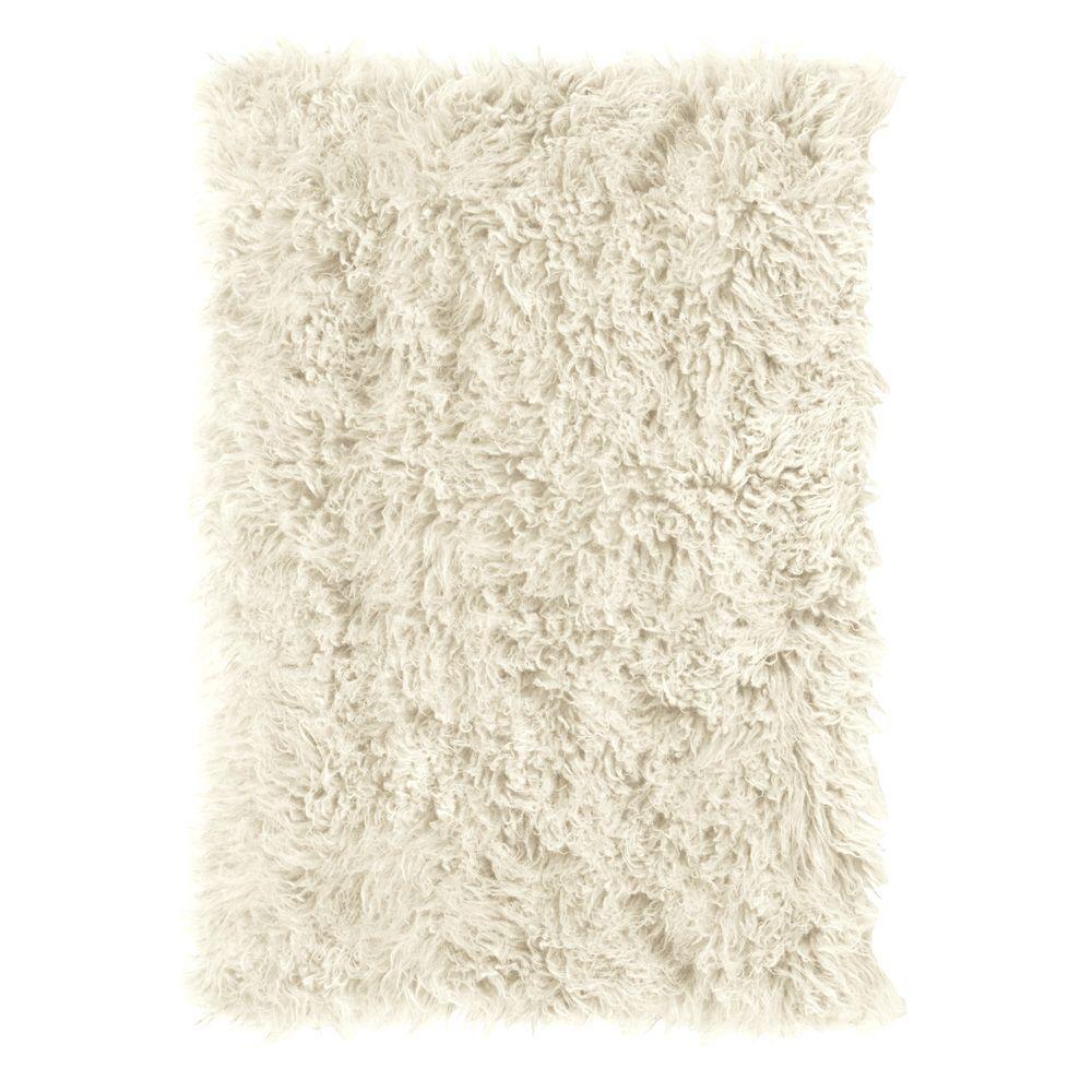 Premium Flokati White 6 ft. x 9 ft. Area Rug