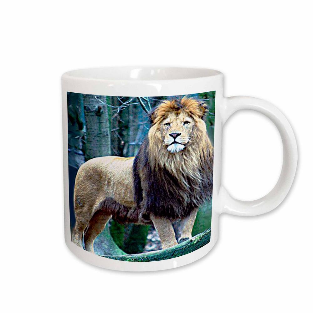 Wild animals 11 oz. White Ceramic Lion The King Mug