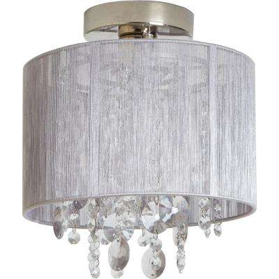 Silvia String Beaded 5-Light Polished Nickel Flush Mount Light