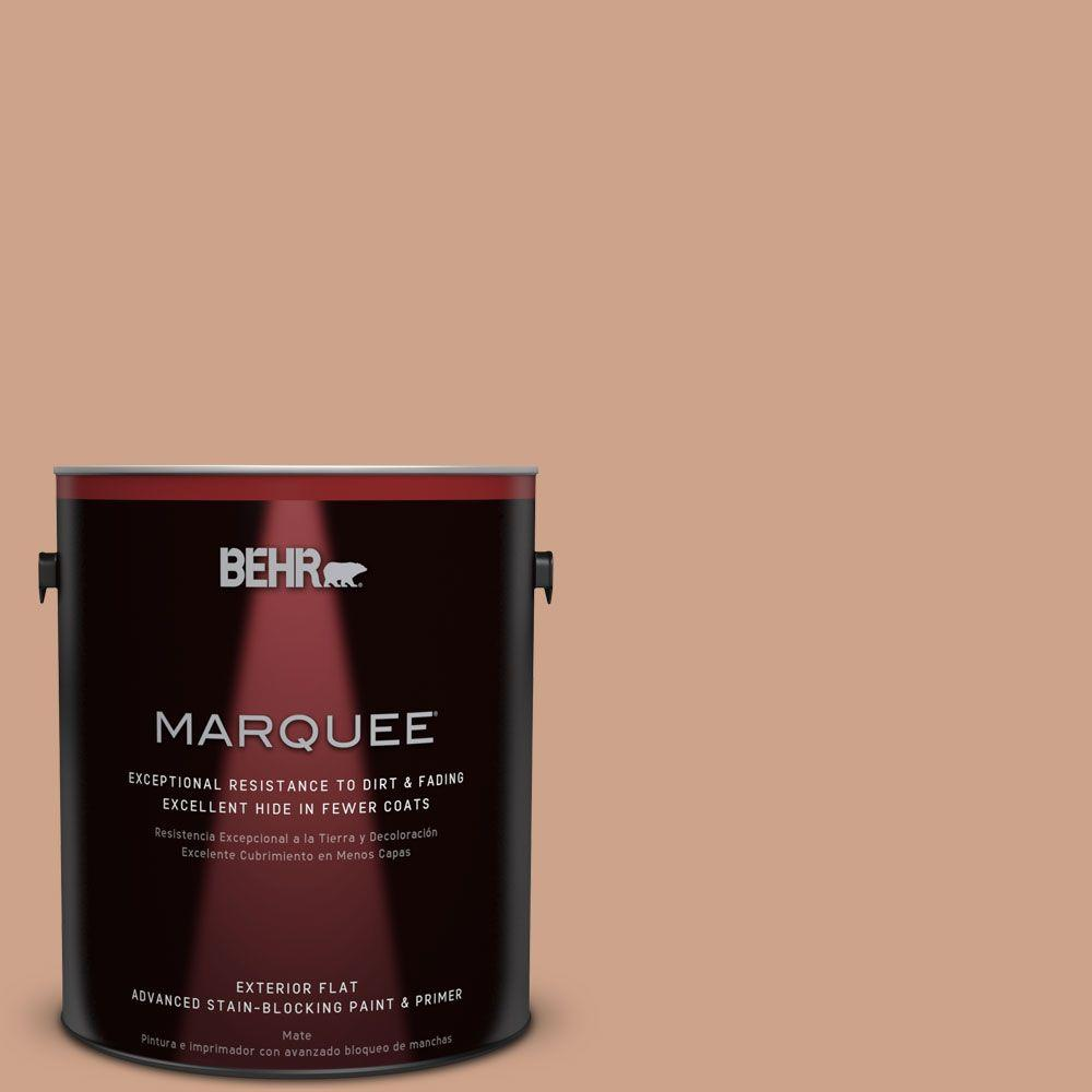 1-gal. #PMD-76 Sienna Buff Flat Exterior Paint