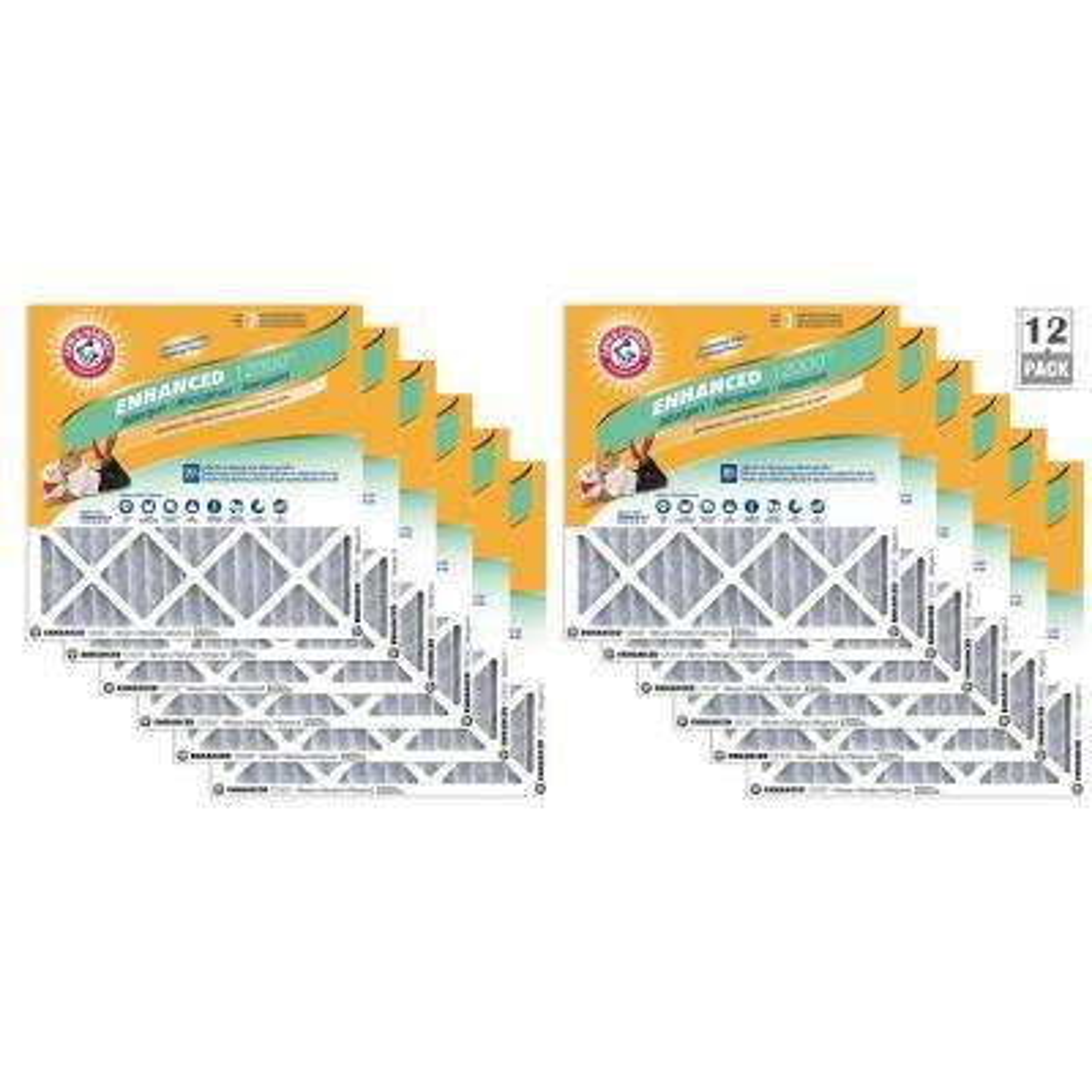 20 in. x 25 in. x 1 in. Odor Allergen and Pet Dander Control Air Filter (12-Pack)