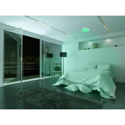 16 in. Voice Controlled Colors Brushed Nickel Smart LED Flush Mount