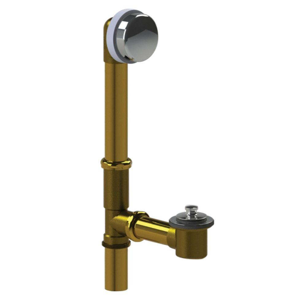 591 Series 16 in. Tubular Brass Bath Waste with Push Pull
