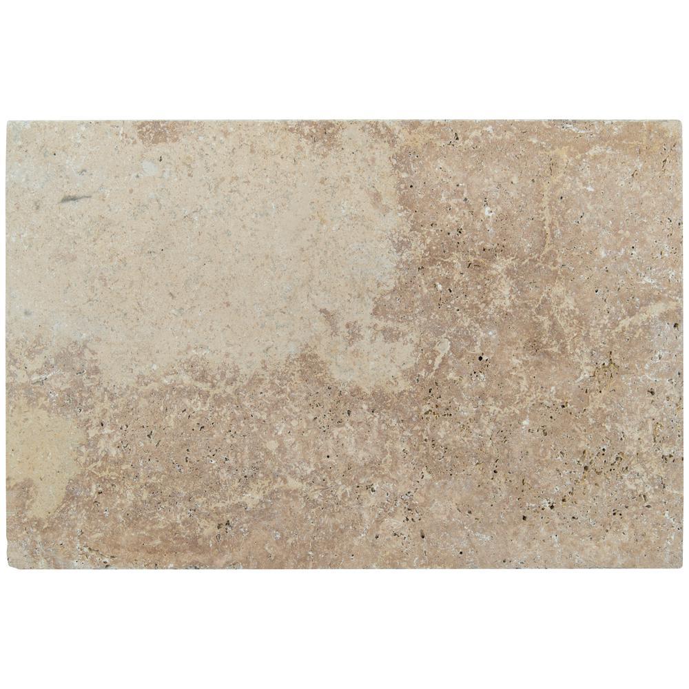 Mediterranean Walnut 16 in. x 1.18 in. Tan Travertine Paver Tile (60-Pieces/160.2 Sq. Ft./Pallet)