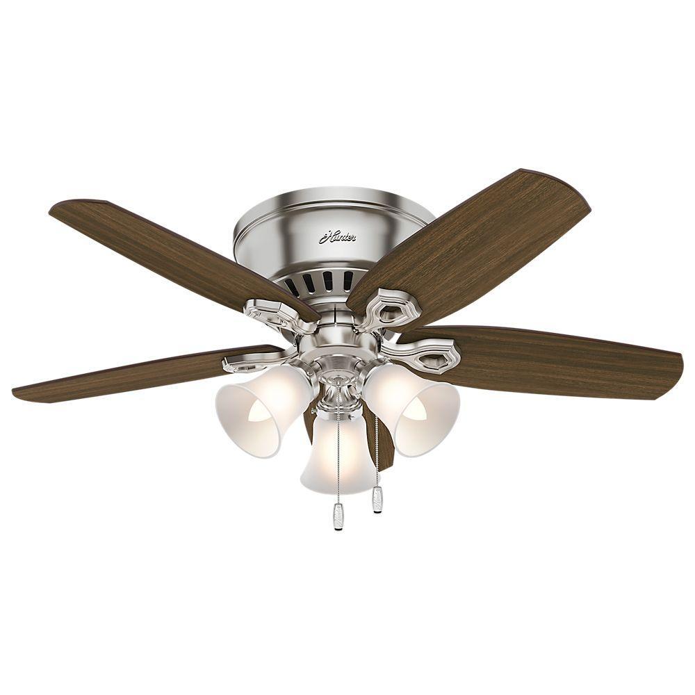 Builder Low Profile 42 in. Indoor Brushed Nickel Ceiling Fan
