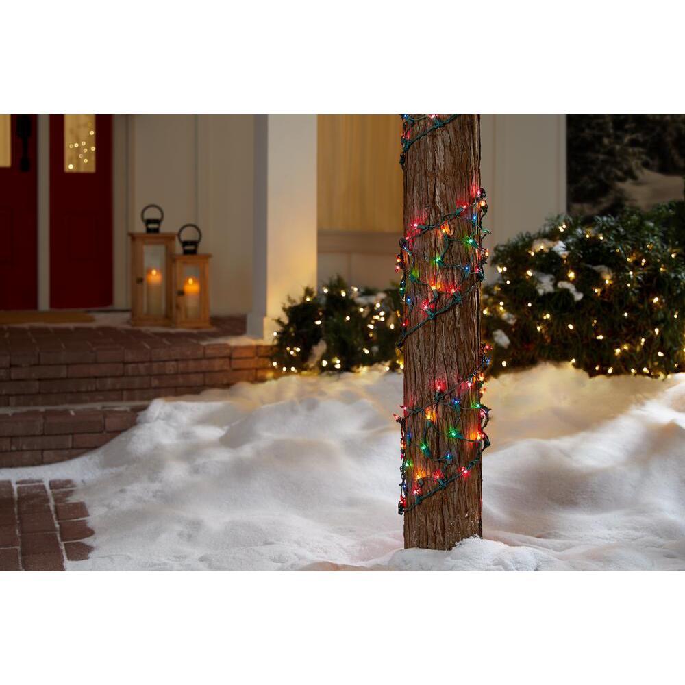 8 in. W x 7.5 ft. L 150-Light Multi-Color Ribbon Net Lights