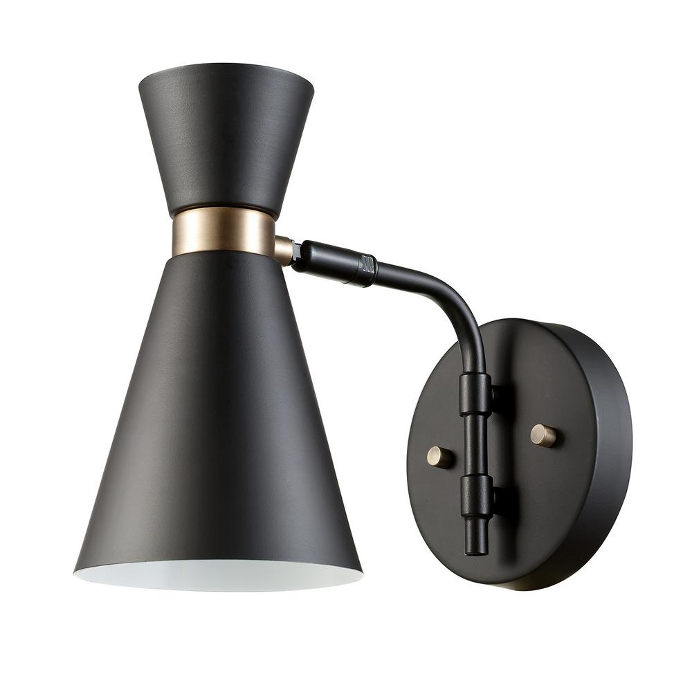 Belmont 1-Light Black Sconce