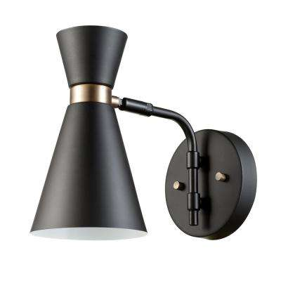 Belmont 1 Light Black Sconce
