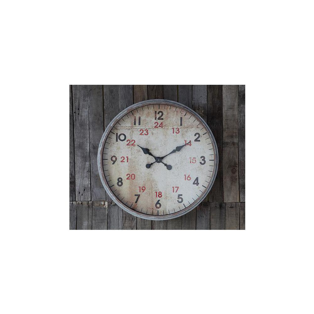Home decorators collection rochelle round wall clock for Home decorators collection logo