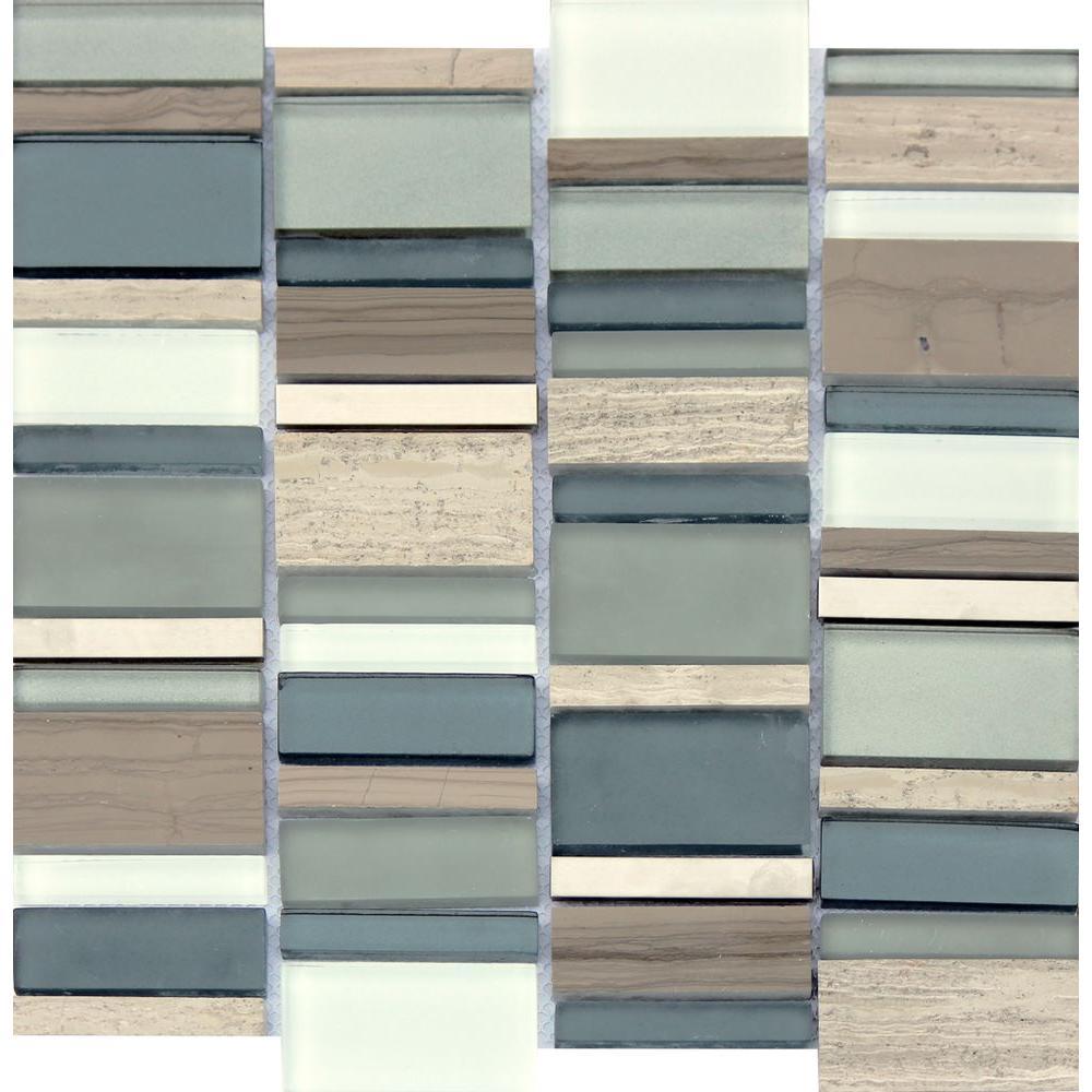 Glass Tile Mint Color Backsplash Home Depot