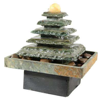 9 in. Slate Pyramid Tabletop Fountain
