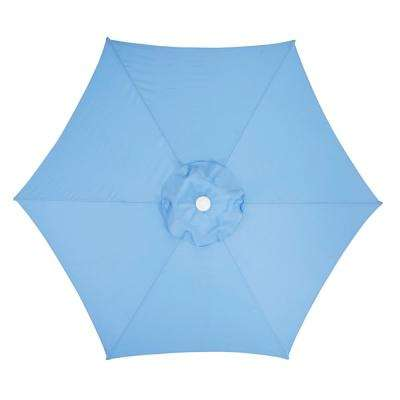 7.5 ft. Steel Market Patio Umbrella in Periwinkle Polyester