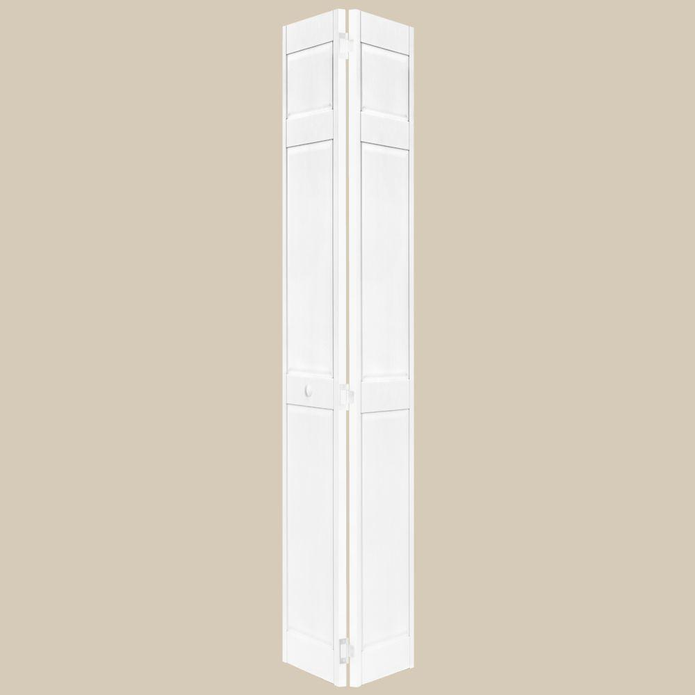 Home Fashion Technologies 6-Panel Behr Decorator White Solid Wood Interior Bifold Closet Door-DISCONTINUED