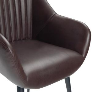 Fantastic Simpli Home Briar Mid Century Modern Stitched Back Dining Gamerscity Chair Design For Home Gamerscityorg