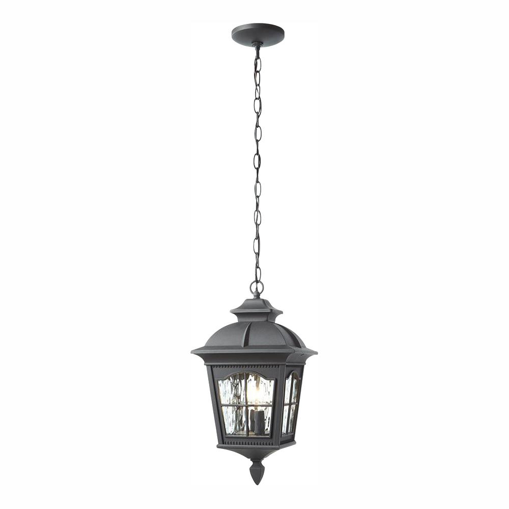 Home Decorators Collection Square Black 2-Light Hanging Lantern with Clear Water Glass was $107.96 now $69.99 (35.0% off)