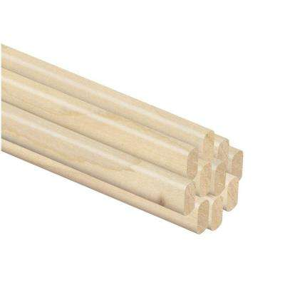 1/4 in. Thick x 1/2 in. Wide x 42 in. Length Hardwood Spline (10-Pack)