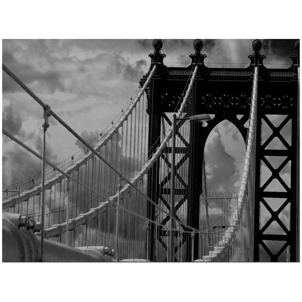 Trademark Fine Art 24 in. x 32 in. Manhattan Bridge Canvas Art