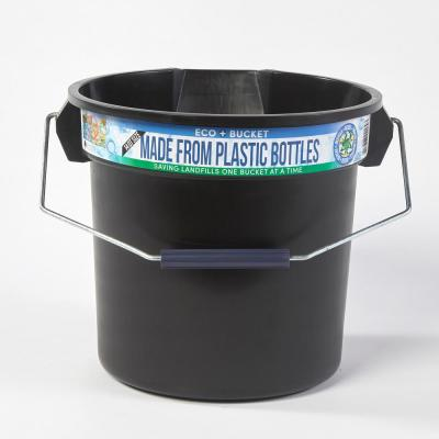 3.5 Gal. Black Round 14 Qt. Utility ECO Bucket 100% Made from Recycled Water Bottles