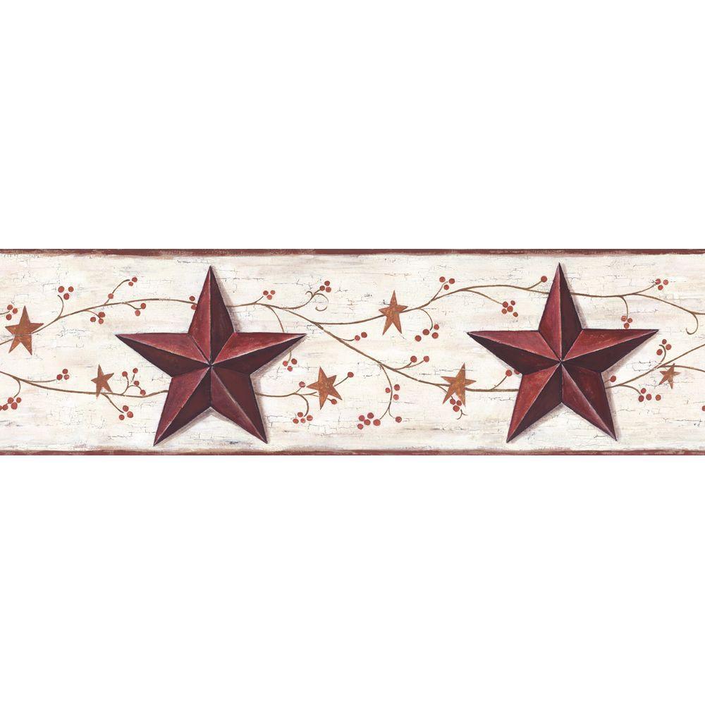 York Wallcoverings Barn Star & Vine Wallpaper Border