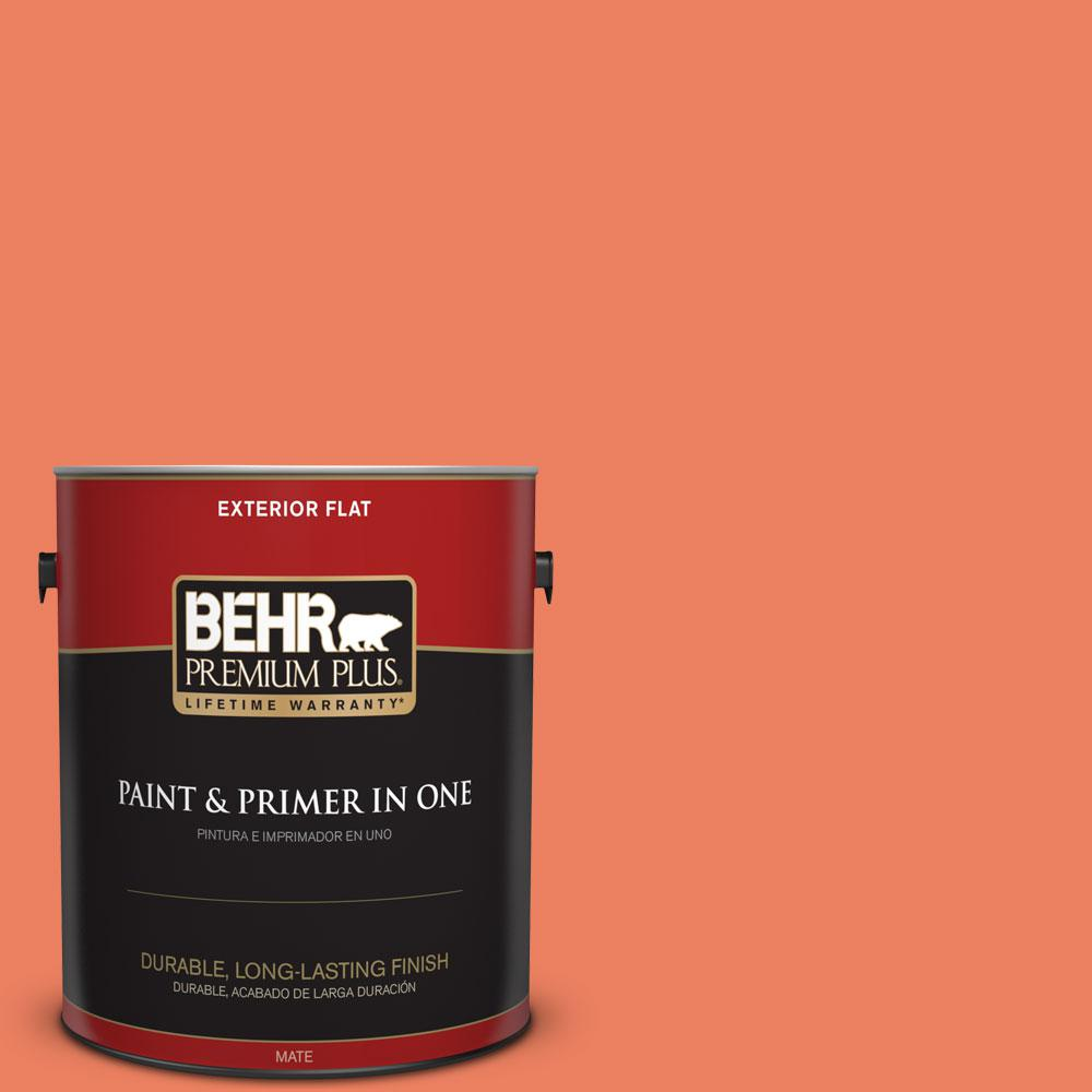 BEHR Premium Plus 1-gal. #200B-6 Mesa Sunrise Flat Exterior Paint
