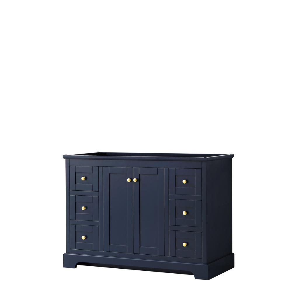 Wyndham Collection Avery 47.25 in. W x 21.75 in. D Bathroom Vanity Cabinet Only in Dark Blue