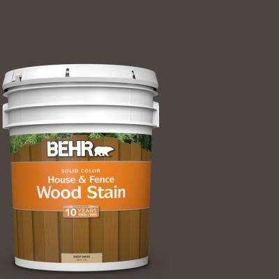 5 gal. #SC-104 Cordovan Brown Solid Color House and Fence Exterior Wood Stain