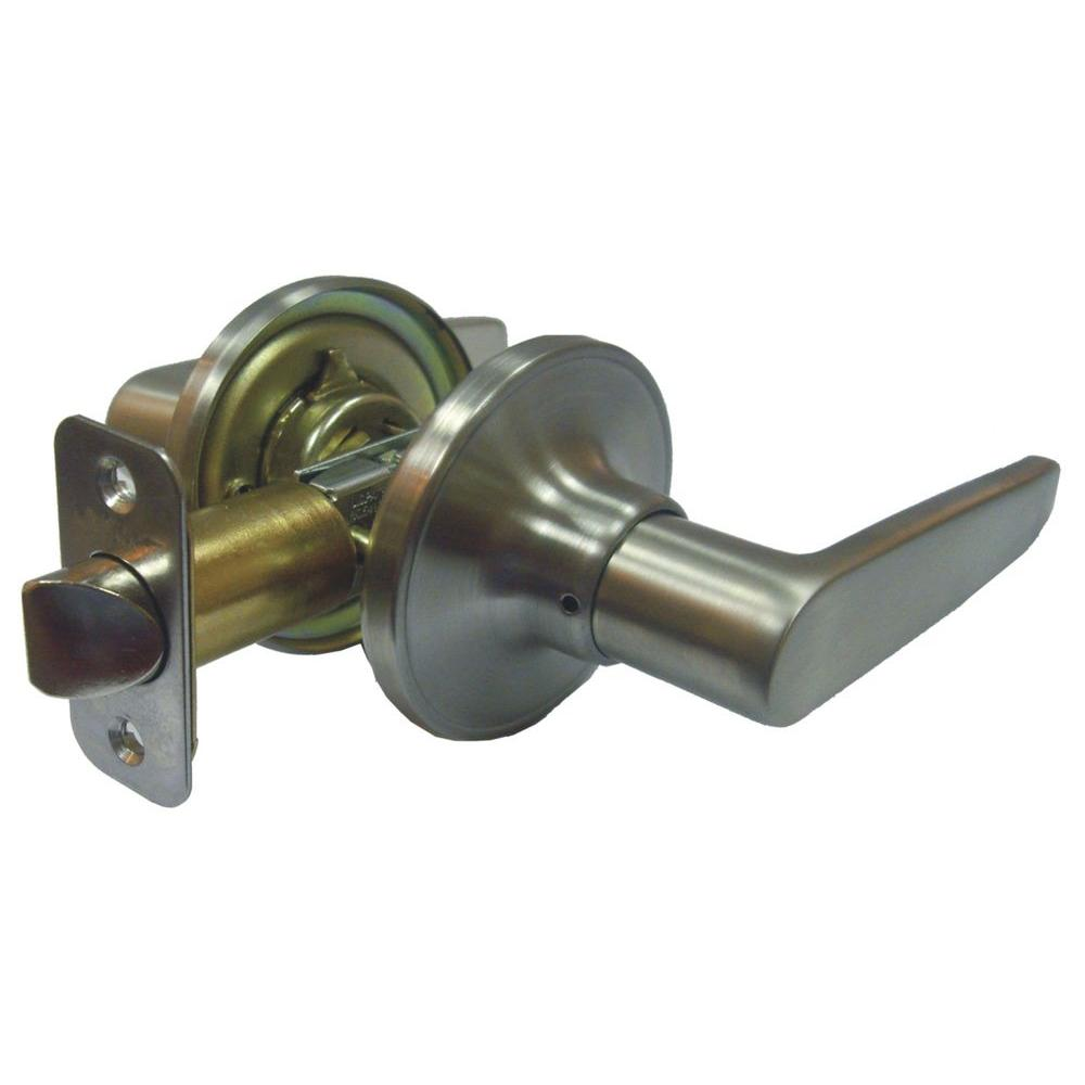Faultless Straight Stainless Steel Passage Lever