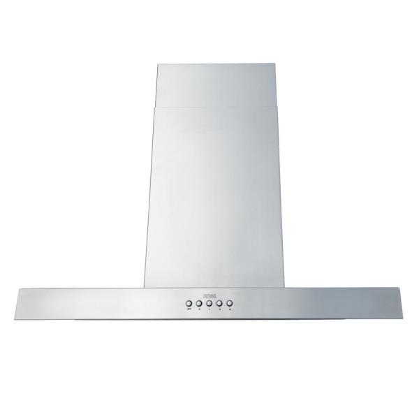 30 in. 680 CFM Island Range Hood in Stainless Steel 3 Speed with QuietMode and 4 LED Lights