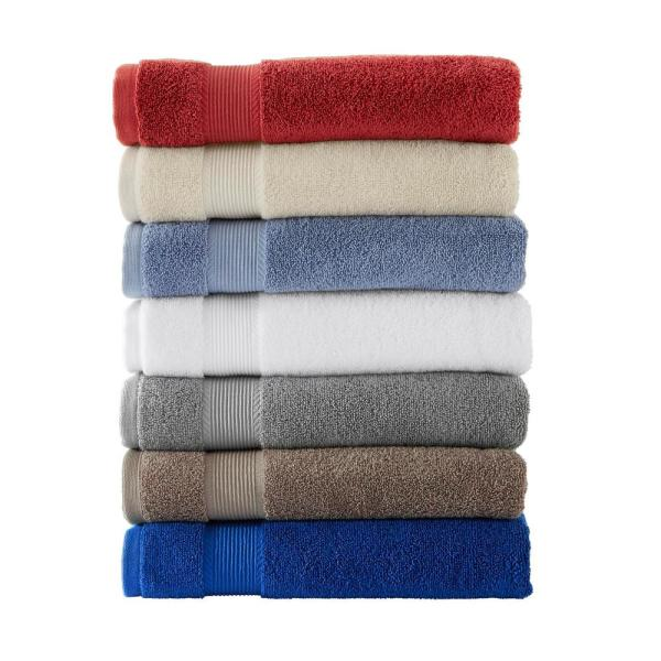 StyleWell - 6-Piece Hygrocotton Towel Set in Stone Gray