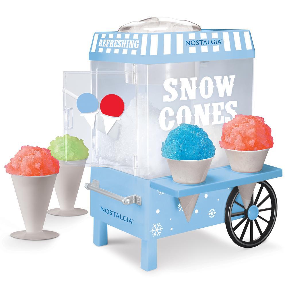 Vintage 160 oz. Snow Cone Maker in Blue with Reusable Cones