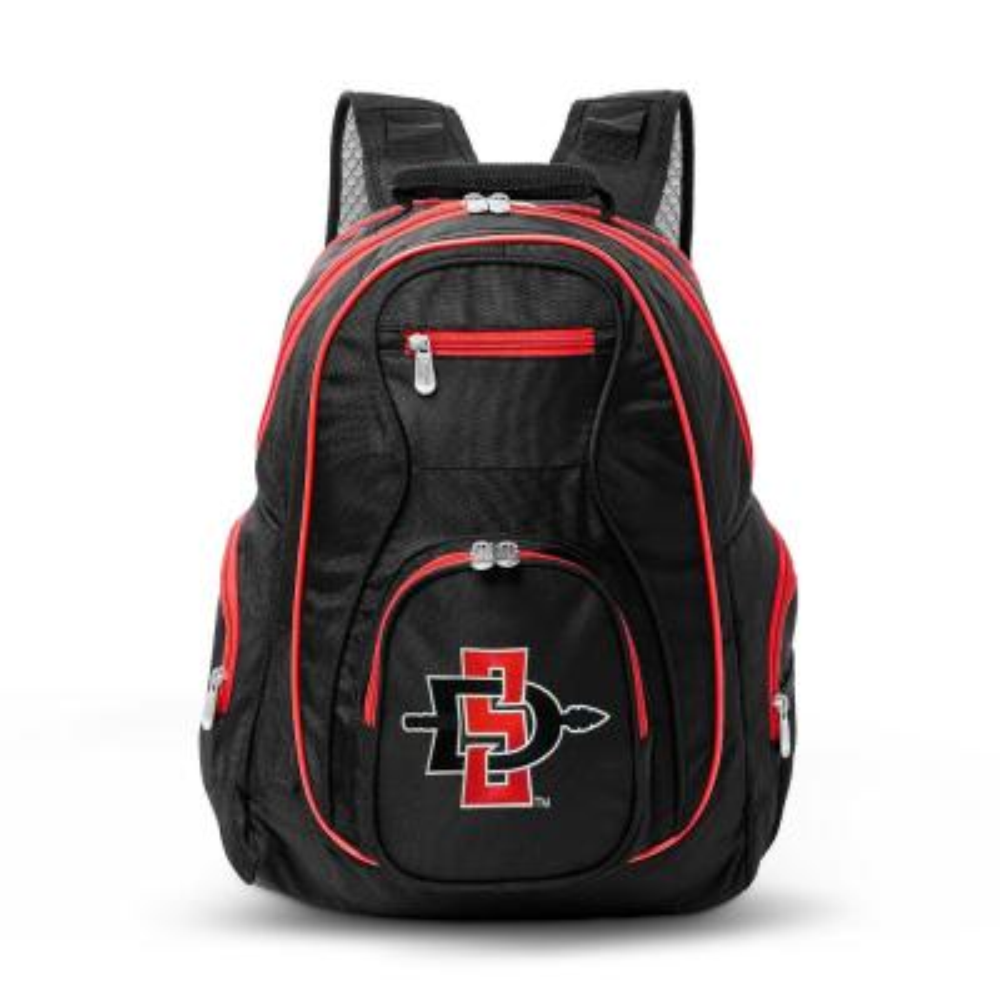 NCAA San Diego State Aztecs 19 in. Black Trim Color Laptop Backpack