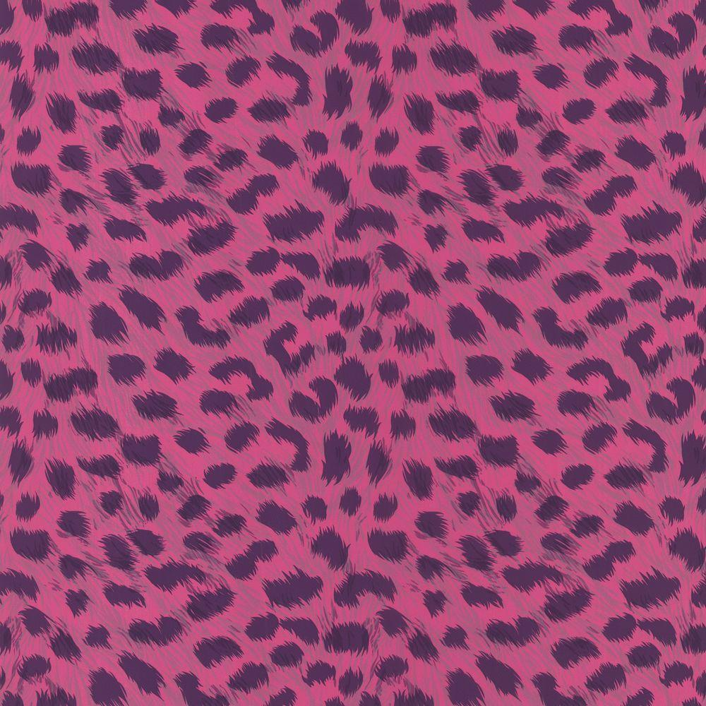 Null Kids World Kitty Purry Pink Leopard Print Wallpaper Sample