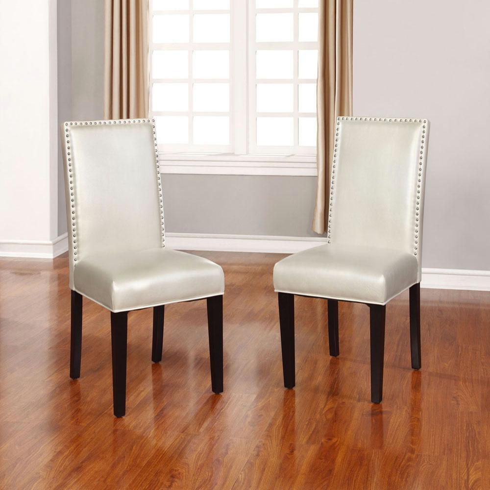 Stewart Pewter PU Dining Chair (Set of 2)