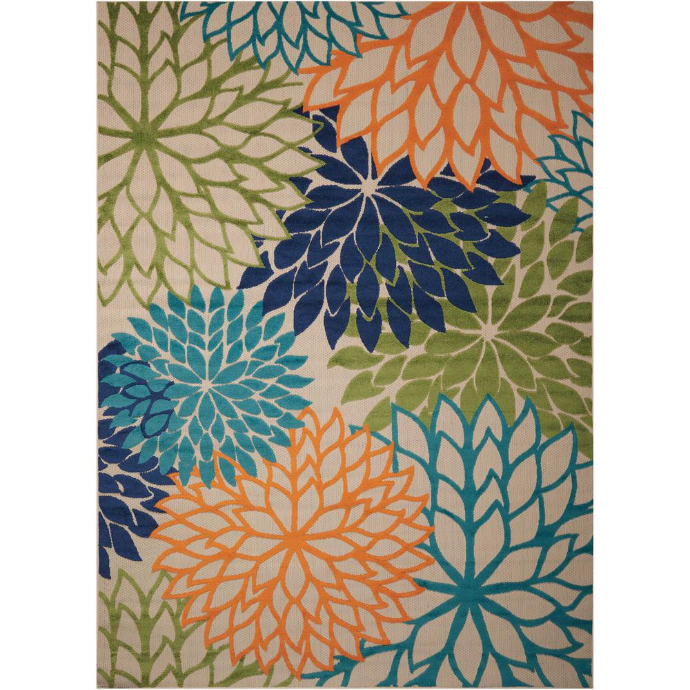 Nourison Nourison Aloha Multicolor 8 ft. x 11 ft. Indoor/Outdoor Area Rug