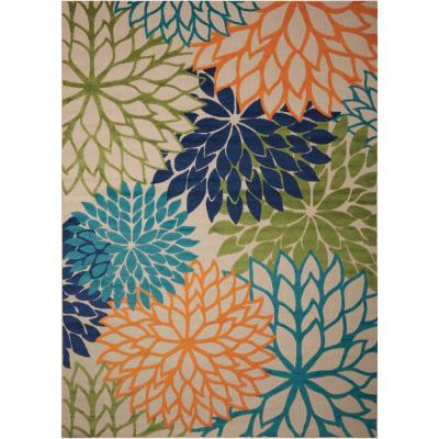 Aloha Multicolor 8 ft. x 11 ft. Indoor/Outdoor Area Rug