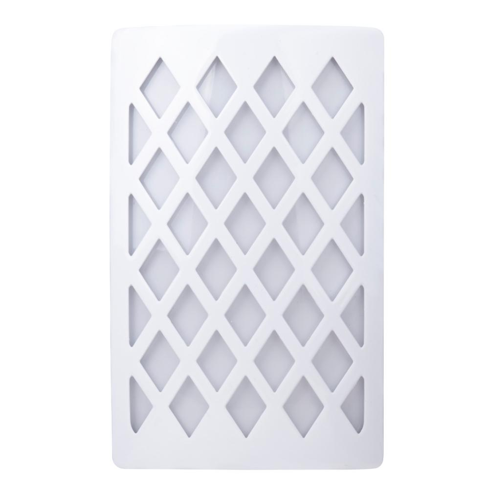 White Automatic Dusk to Dawn LED Cover Plate Night Light