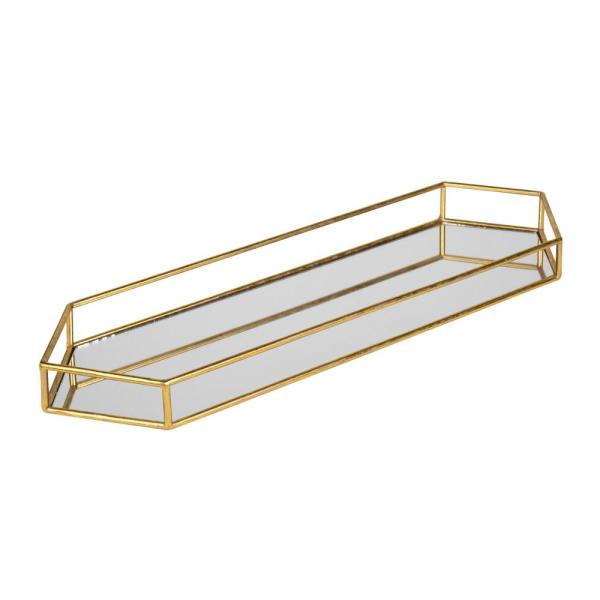 Kate and Laurel Felicia Gold Decorative Tray 211698