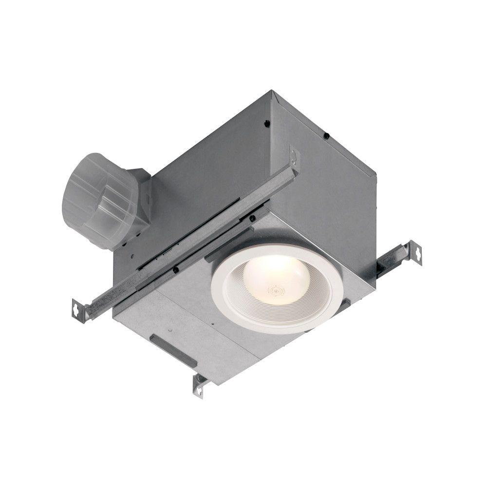Broan Humidity Sensing Recessed 70 CFM Ceiling Exhaust Bath Fan with Light and Humidity Sensing, ENERGY STAR*