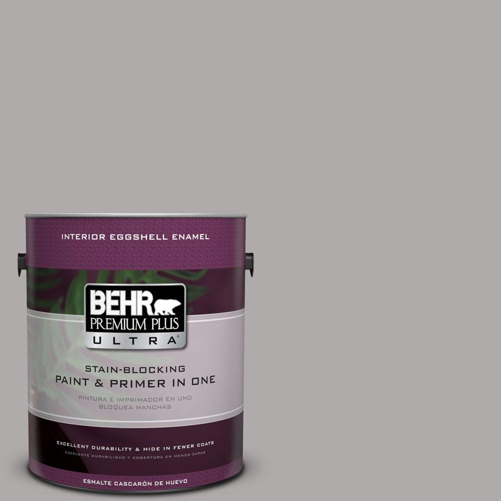 1 gal. #PPU18-14 Cathedral Gray Eggshell Enamel Interior Paint and Primer