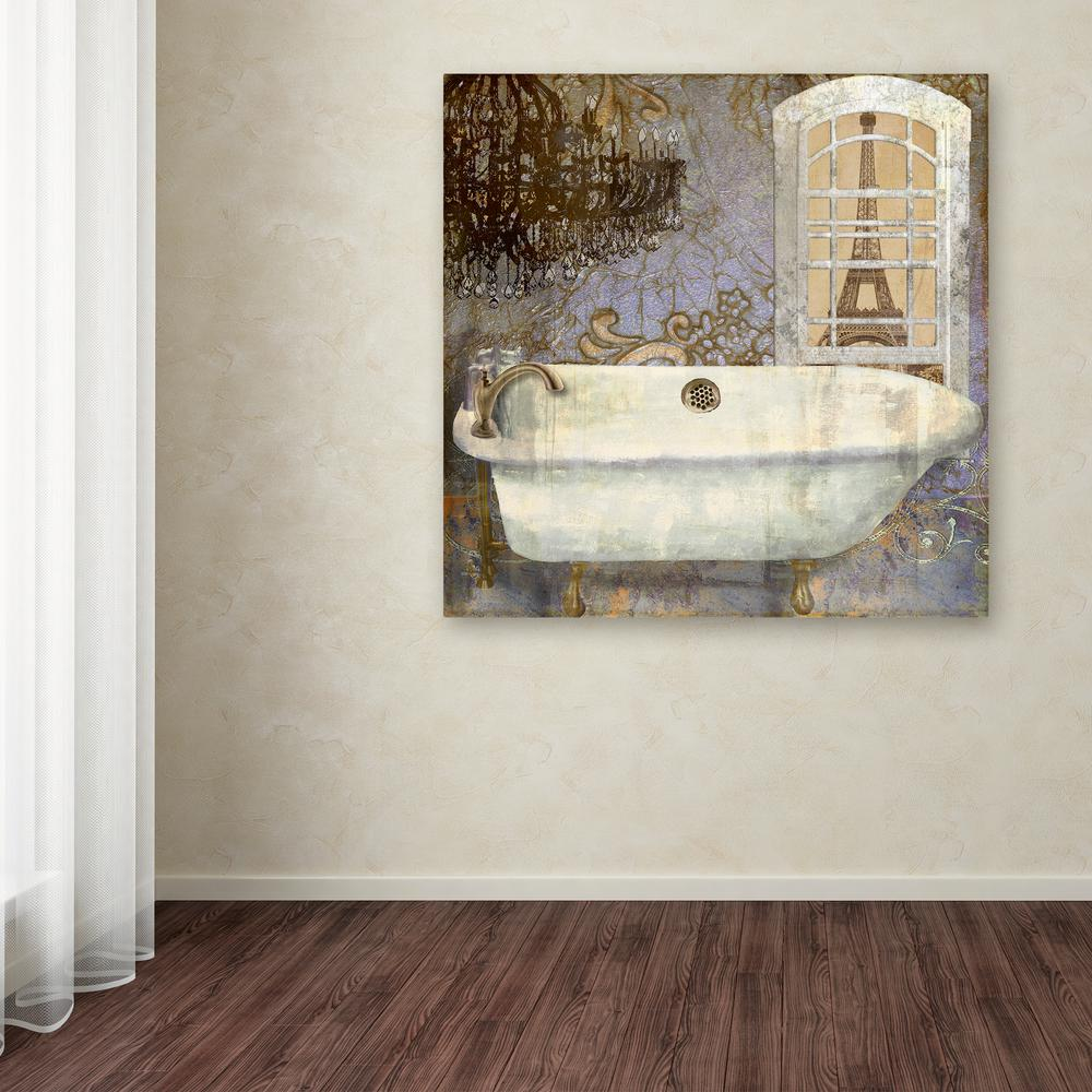 Trademark fine art 18 in x 18 in salle de bain i by for Salle de bain colore