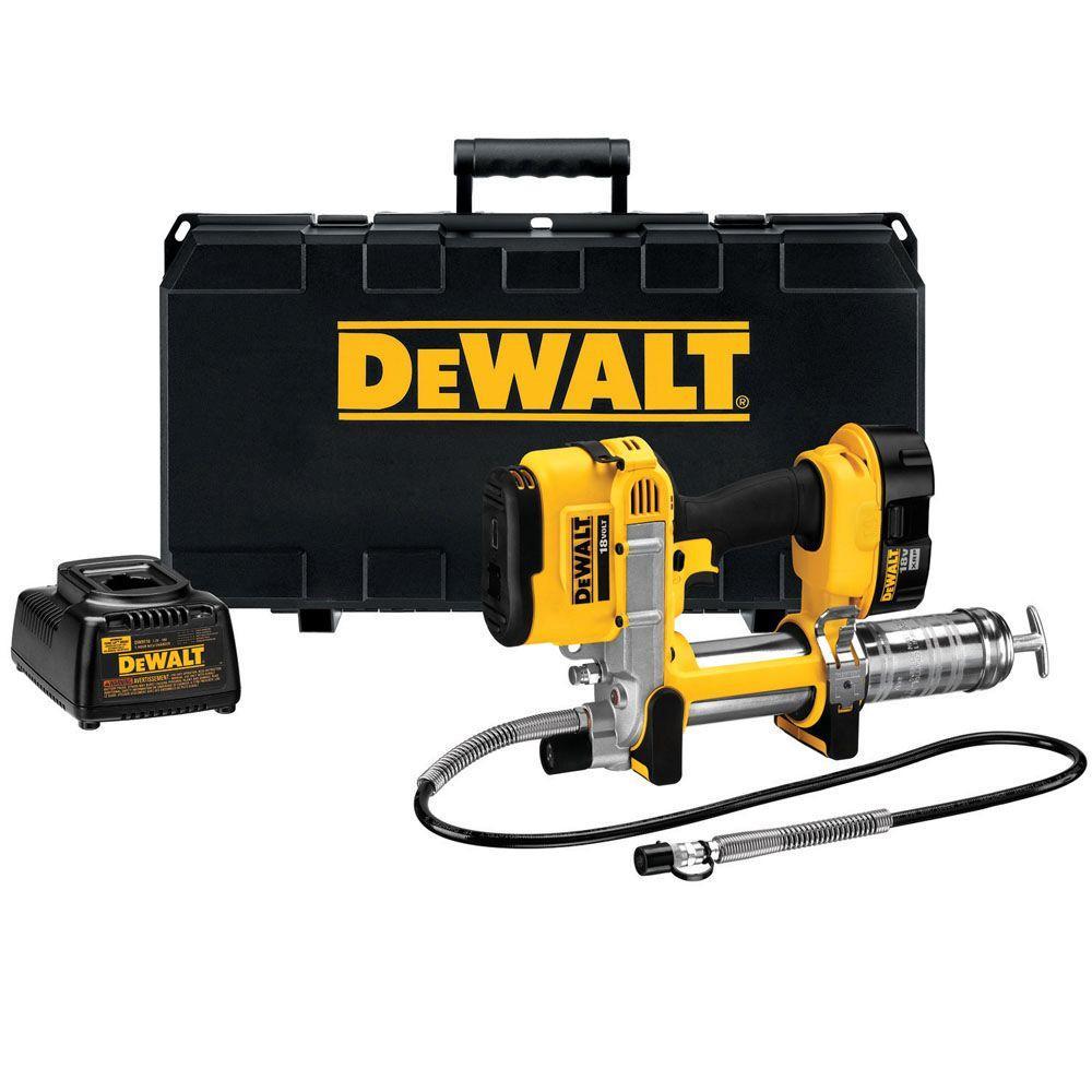 DEWALT 18-Volt Ni-Cad Cordless Grease Gun Kit