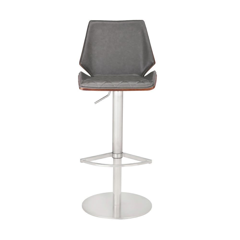 Hailey Adjustable Vintage Gray Barstool