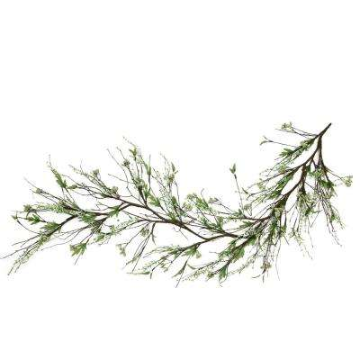 5 ft. Brown and Green Berry Spring Floral Decorative Artificial Garland