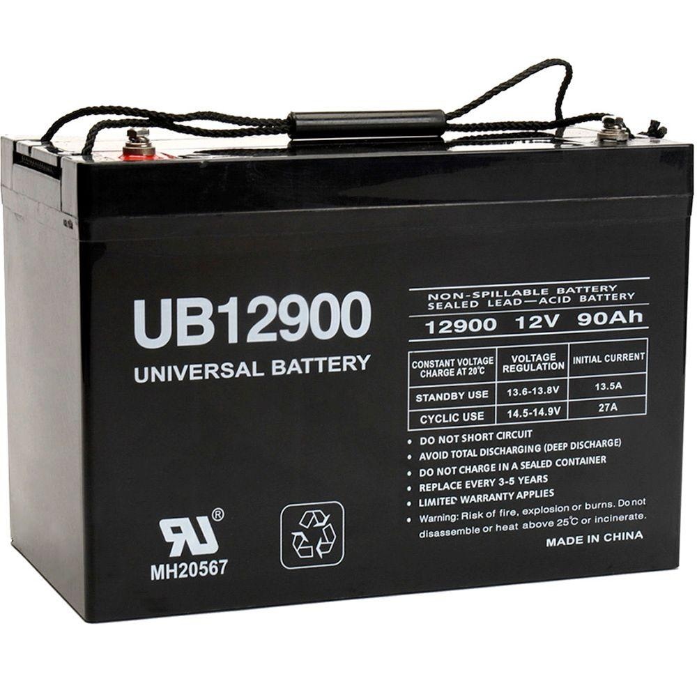 upg sla 12 volt i4 internal threaded terminal battery ub12900 group 27 the home depot. Black Bedroom Furniture Sets. Home Design Ideas